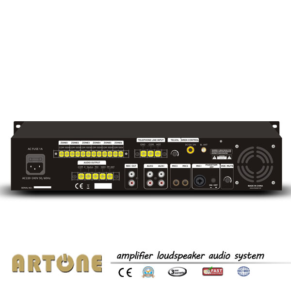 Pms B624 6 Zone Mp3 Bluetooth Pa Mixing Amplifier With
