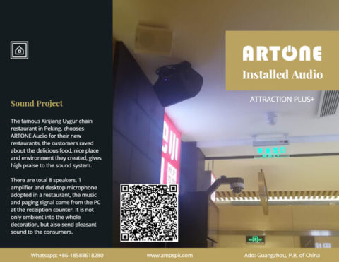 Cafe shops restaurants chain stores 100W ARTONE Audio background music Bluetooth speaker system