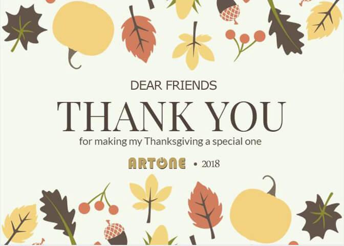 ARTONE Audio Happy Thanksgiving Day