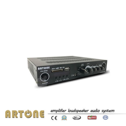 Stereo Mixer Amplifier Power 200W with Bluetooth MP3 ARTONE PD-120D in compact 1U